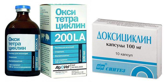 Окситетрациклин, Доксициклин