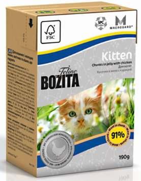 Мокрый корм для котенка Бозита