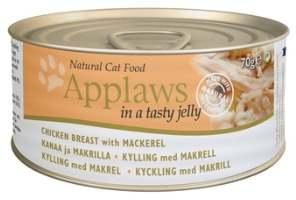 Корм Кусочки в желе для взрослых кошек курица и скумбрия