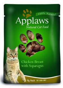 Корм Паучи для кошек с курицей и спаржей