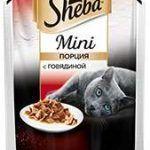 Корм для кошек Шеба мини с говядиной