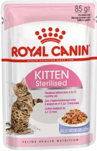 Для стерилизованных котят мясо в желе