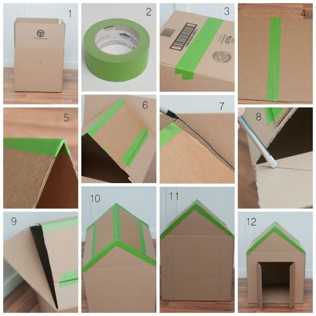 Как сделать картонный домик