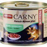 Carny для котят с кусочками кролика и курицы
