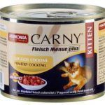 Мясной коктейль Carny для котят