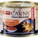 Carny для котят с телятиной и курицей