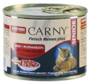 Паштет для кошек 7+ с говядиной и сердцем