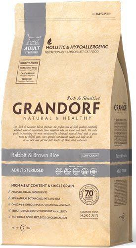 Grandorf Adult Cat Sterilised Rabbit & Rice Hypoallergenic