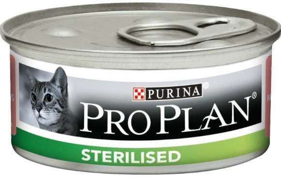 Лосось и тунец в банке для стерилизованных кошек