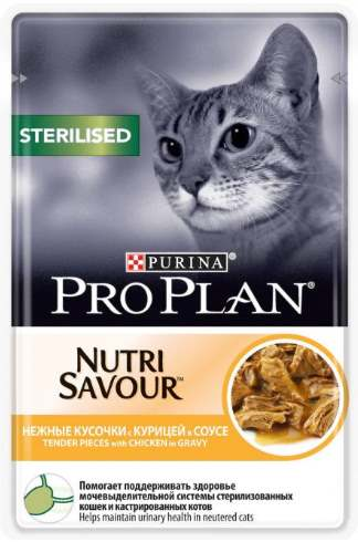 Влажный корм для стерилизованных кошек с курицей