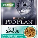 Влажный корм для стерилизованных кошек с рыбой в соусе