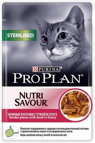 Влажный корм для стерилизованных кошек с уткой