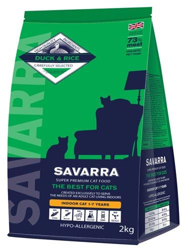 Savarra Adult Cat Indoor Duck & Rice Hypoallergenic
