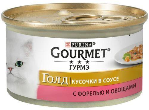 Голд Кусочки в соусе форель и овощи