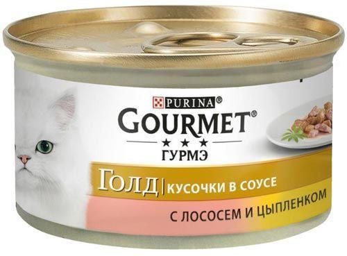Голд Кусочки в соусе лосось и цыпленок