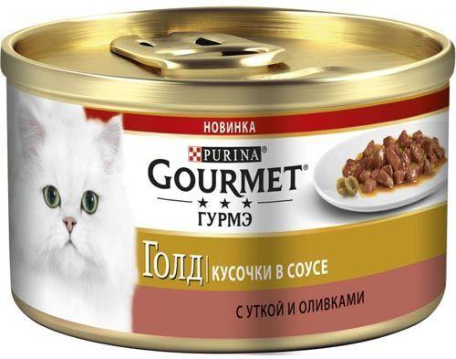 Голд Кусочки в соусе утка и оливки