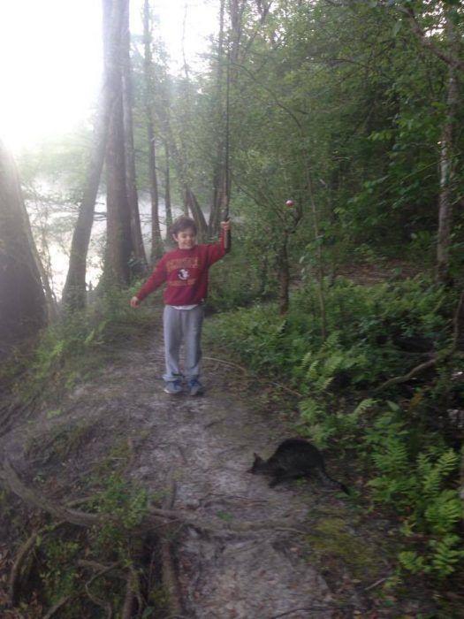 В лесу с мальчиком