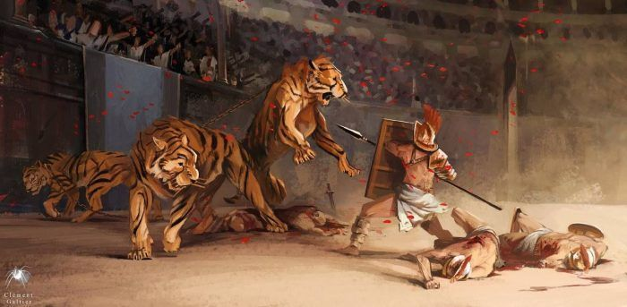 Тигры на гладиаторской арене