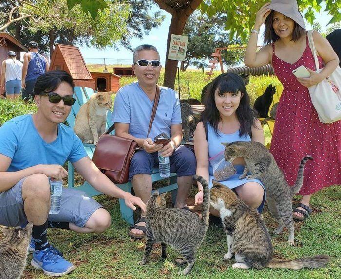 Туристы в заповеднике