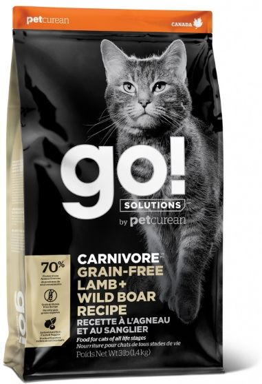 Корм для кошек Carnivore Grain-Free Lamb + Wild Boar