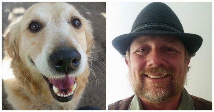 Почтальон и собак