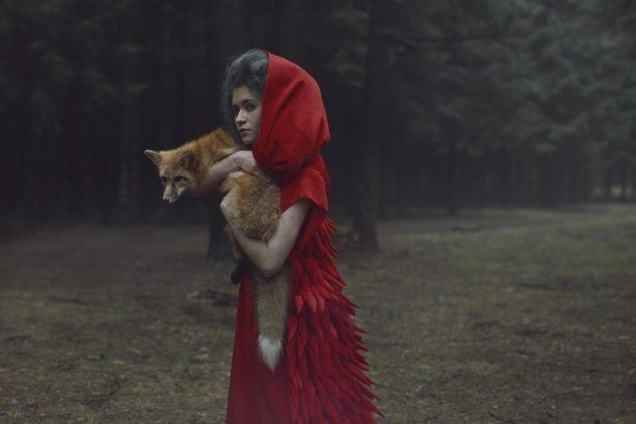 Красная шапочка с лисой