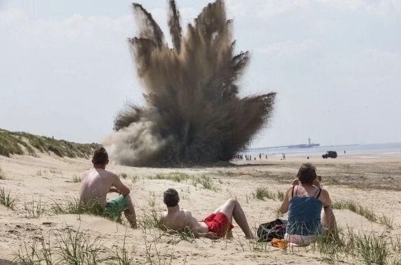 Взрыв на суше