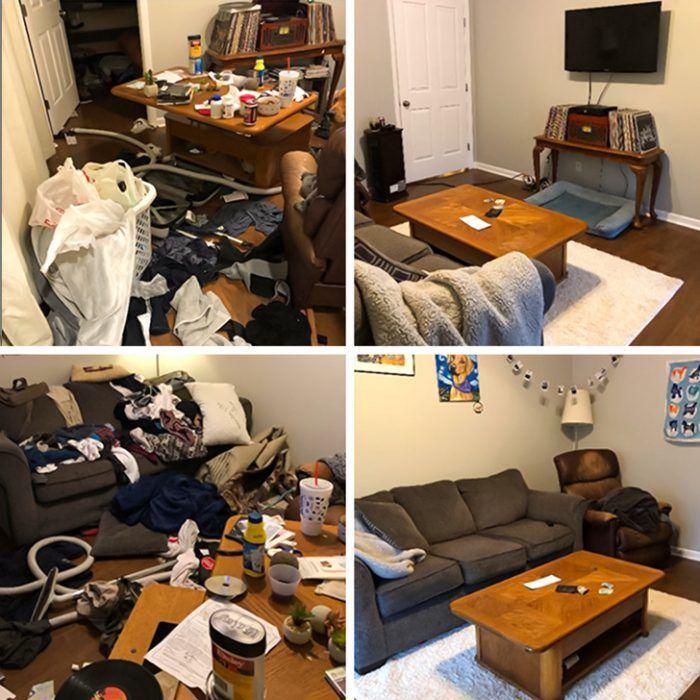 Уборка комнаты