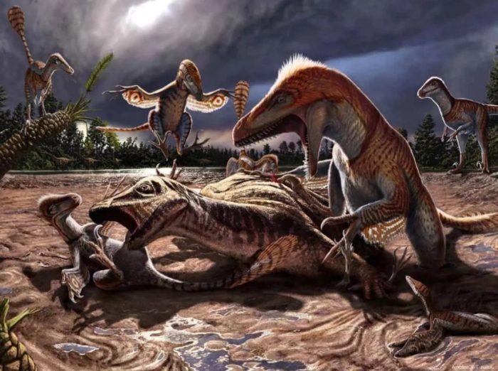Динозавры охотятся