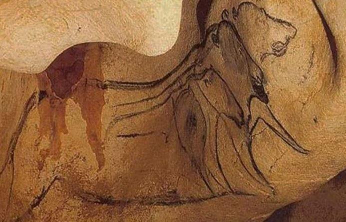Наскальное изображение льва